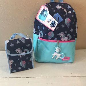 New Unicorn Backpack & Lunch Bag full size 🦄